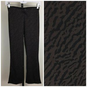 NWT ZARA Trafaluc Animal Print Pull On Crop Pants
